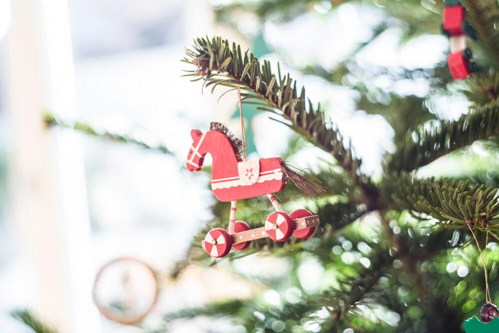 Christmas tree horse decoration