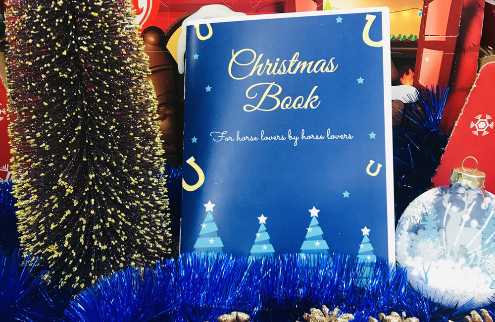Horse Christmas Book with decorations