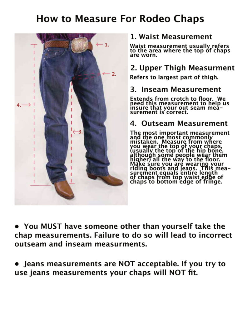 How to Measure for Chaps chart