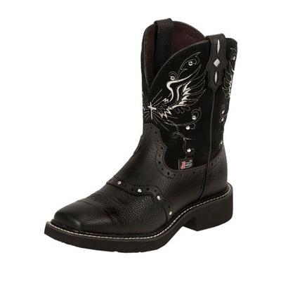 Justin Mandra Black Boots