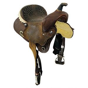 Used Billy Cook Barrel Saddle 1527