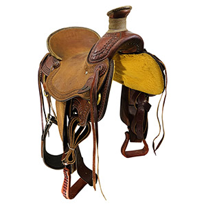 Used Billy Cook Wade Ranch Mule Saddle