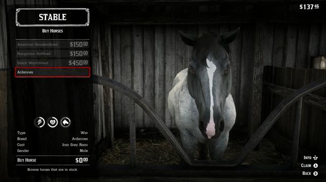 War Horse rdr2