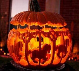 carousal horse pumpkin curving
