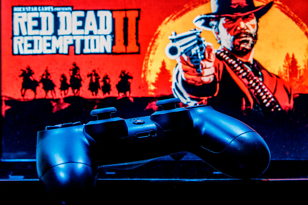 console and rdr2 poster