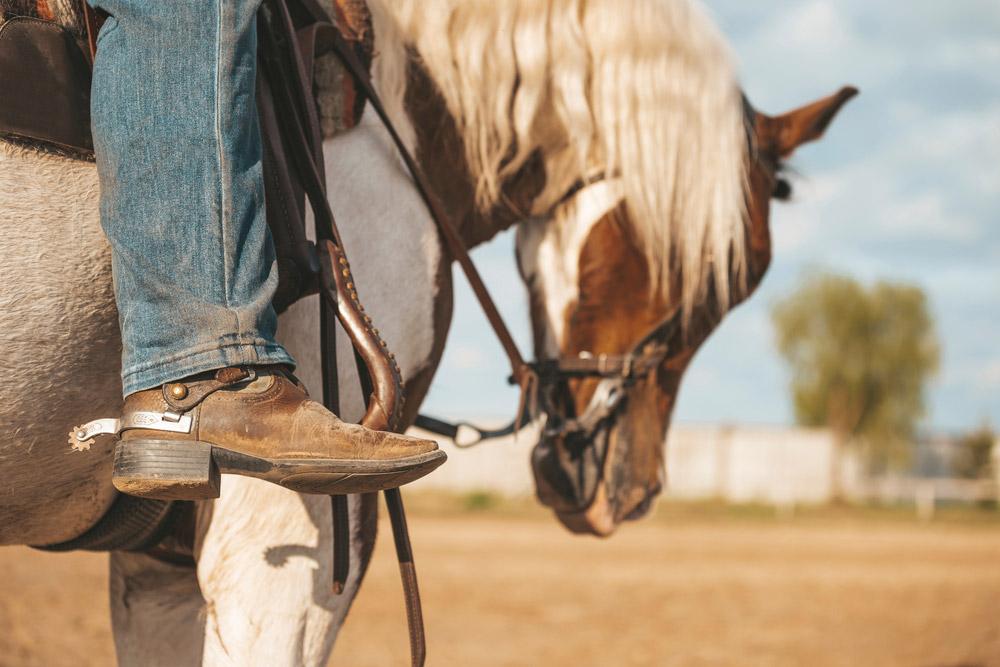 cowboy boot close view