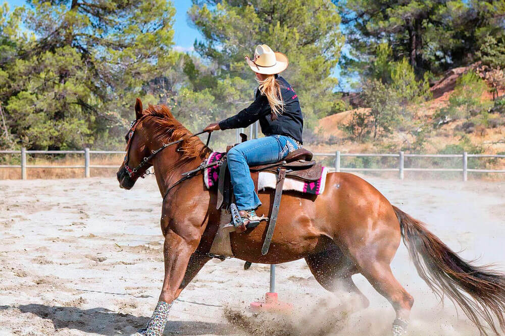 cowgirl barrel racing