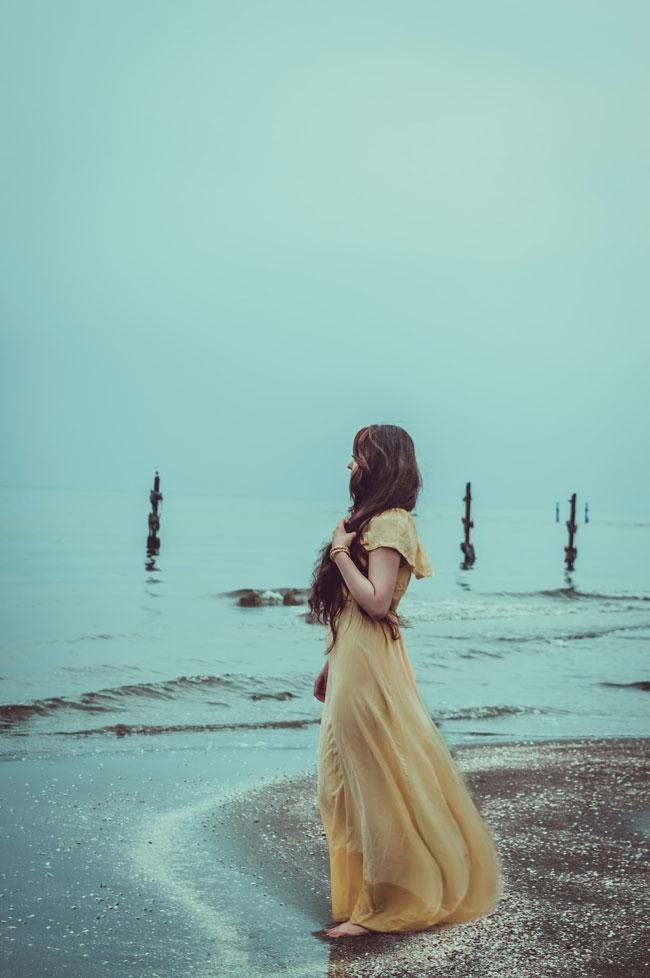 girl in Chiffon Dress