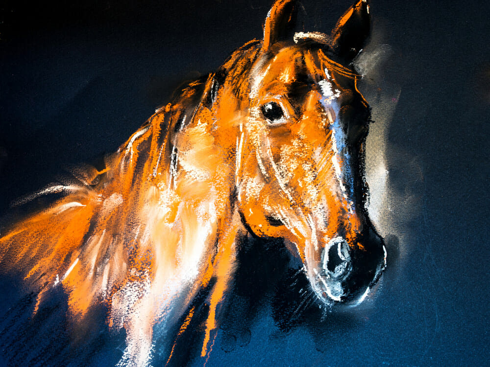 horse abstract painting