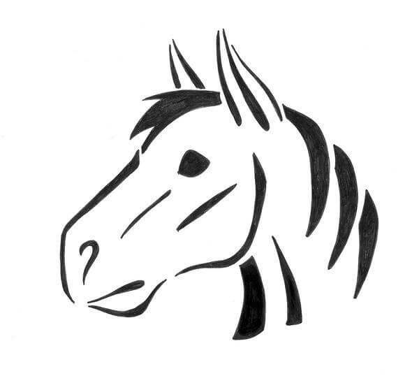 horse head pumpkin stencil