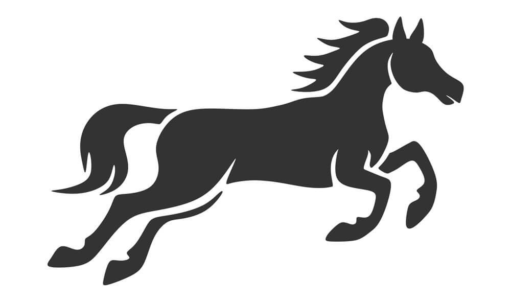 horse pumpkin stencil