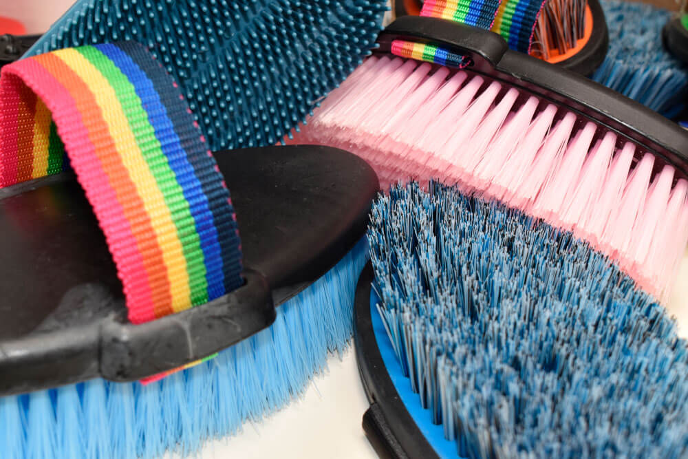 horse rainbow grooming brushes