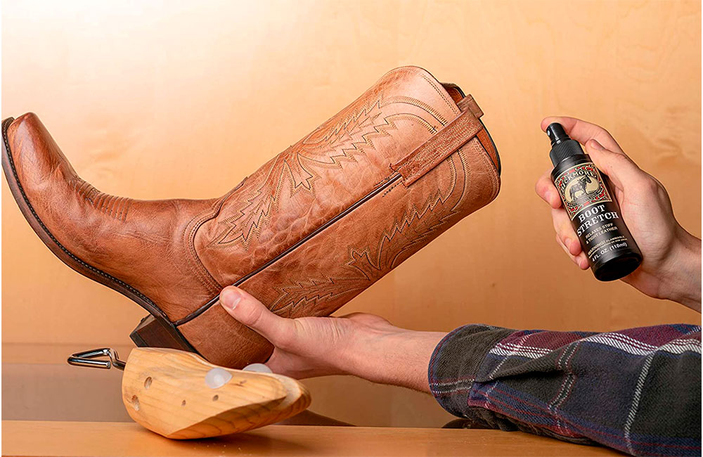leather boot stretching spray