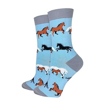 socks with horse print