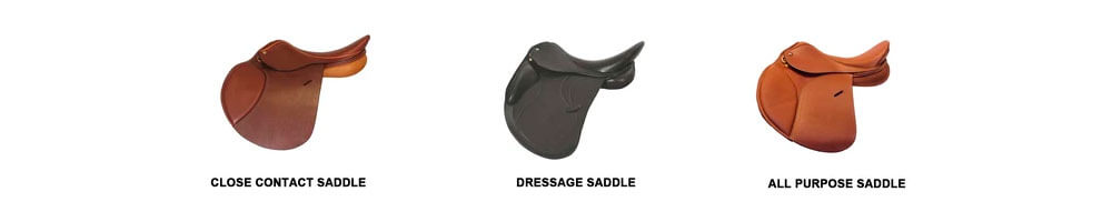 three english saddle types