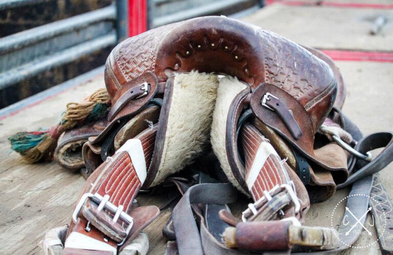 western saddle close view